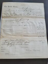 2 Civil War Documents 1st New York Lincoln Cavalry Pay Vouchers 1862