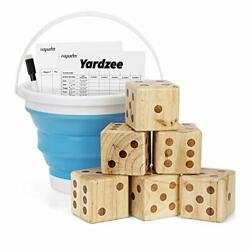 Giant Wooden Yard Dice Set For Outdoor Fun, Barbeque, Party Events, Backyard