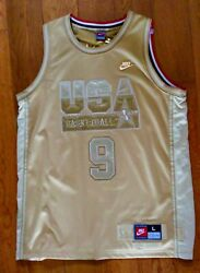 Nwt Limited Edition Michael Jordan Nike Gold On Gold Olympic Dream Team Jersey.