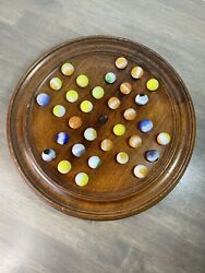 Vintage The Bishops Game By Carl Forslund Solitaire Marbles Handmade Wood Board
