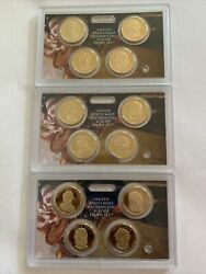 2007 2008 2009 Us Mint Presidential 1 Coin Proof Sets No Box Or Coa 12 Coins
