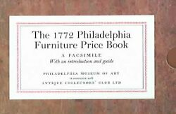 1772 Philadelphia Furniture Price Book A Facsimile Paperback By Kirtley A...