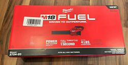 Milwaukee 2724-20 M18 Fuelandtrade Blower Tool Only Brand New In Box