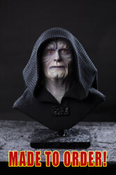 Star Wars Inspired Emperor Palpatine Jedi Style Life Size Resin Bust
