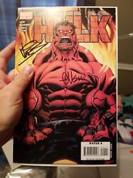 Lot Of 4 1 Signed 2 Times Hulk 1 2008 1st Red Hulk 9.4 Nm Or Better