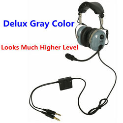 Ufq Gray Colour Anr Aviation Headset Great Anr And Hi-fi Speakers With Bag
