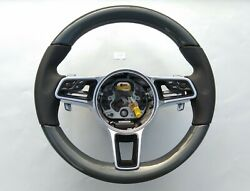 Porsche 911 Boxster Cayenne Macan Panamera Carbon / Nappa Steering Wheel Heated