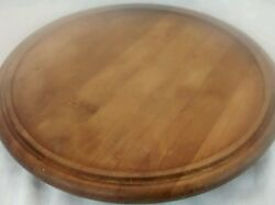 Rare Vintage Dansk Designs Carved Wood Round Spin Serving Tray 16 Inches