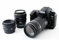 Canon Eos 5d Mark Ii 21.1mp 50/28-105/75-300mm [exc+++] W/8gb,strap Japan [065]