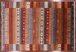 6' 7 X 9' 8 Hand Knotted Gabbeh Wool Area Rug - P10000