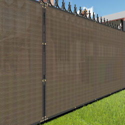 6ft Brown Large Fence Privacy Screen 95 Blockage Mesh W/gromment