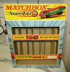 Matchbox Superfast Empty Early 1970and039s Shop Display With Header Card Very Rare