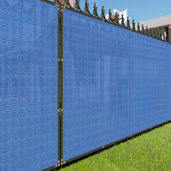 7ft Blue Large Fence Privacy Screen 95 Blockage Mesh W/gromment