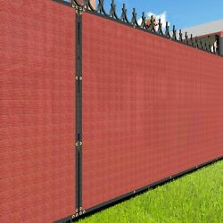 7ft Red Large Fence Privacy Screen 95 Blockage Mesh W/gromment