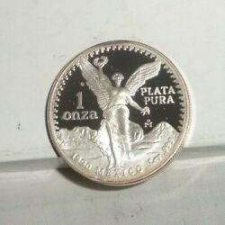 1990 Mexico Proof Libertad Onza 1 Troy Oz .999 Silver Coin Low Mintage Key Date
