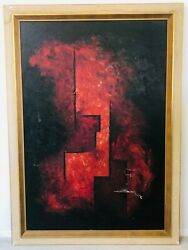 🔥 Antique Mid Century Modern Abstract Cubist Oil Painting, Baltimore Museum Art