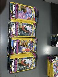 Lot Of 100 Pokemon Tcg Sun And Moon Unified Minds 3 Cards Packs Unweighted