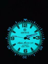 Deep Blue Alpha Marine Auto/ Full Lume Teal Ice Blue Dial/ Sold Out