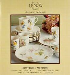 Lenox Butterfly Meadow 18 Piece Dish Set Nib Plates And Mugs For 6 People