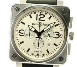 Bell And Ross Aviation Chronographe Br01-94 Andagrave Remontage Automatique Argent Hommes