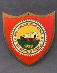 Bsa 1953 Boy Scouts Of America National Jamboree Irvine Ranch Calif Shield Sign