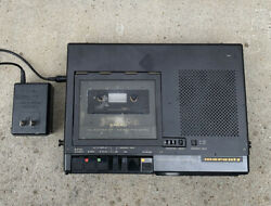 Marantz Pmd221 Portable Cassette Tape Recorder With Oem Power Adapter