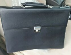 Rolex Leather Messenger Bags Luxury Briefcase New Made In Italy