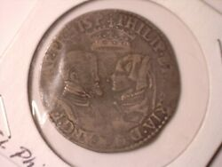 Great Britain 1554 Phillip And Mary Shilling - Scarce Vf Details