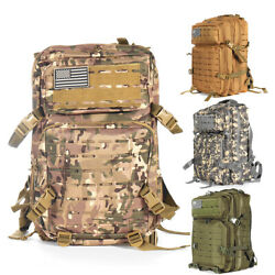 1859.8oz Outdoor Molle Military Tactical Army Rucksack Waterproof Zipper Large