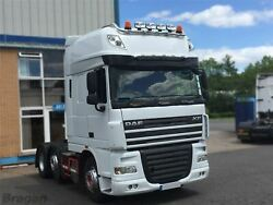 Roof Bar + Led + Led Spots S For Daf Xf 105 Superspace Cab Truck Stainless Steel