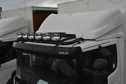 Roof Bar + Leds + Led Spots S For Scania P G R 6 Series 2009+ Low Day Cab Black