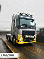 Roof Bar Black + Leds + Beacons + Led Spots For Volvo Fm Series 2 And 3 Low Cab