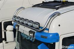 Roof Bar + Led Spots S + Clear Beacons For Scania P G R Series Pre 2009 Highline