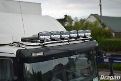 Roof Bar + Leds + Led Spots S For Volvo Fe 2006 - 2013 Stainless Steel Truck Top