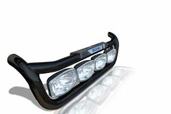 Grill Bar + Led Spots + Step Pads + Led For Scania P G R Series Pre 2009 Black