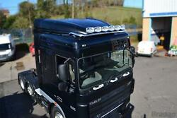 Roof Bar+leds+jumbo Led Spots+clear Beacon For Daf Xf 95 Space Cab Truck Steel