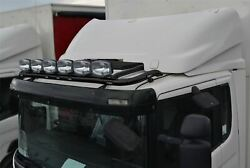 Roof Bar + Led + Led Spots S For Foden Alpha Low Cab Black Truck Stainless Steel