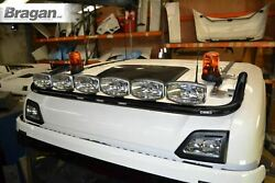 Roof Bar Black + Leds + Led Spots For Scania New Gen R And S 2017+ Normal Cab