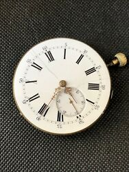 Antique Rare Quarter Repeater Pocket Watch Movement Only As Is