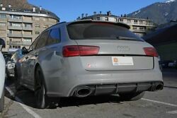 Genuine For Audi A6 S6 C7 4g 11-18 Rs6 Avant Oe Roof Spoiler Abs Plastic
