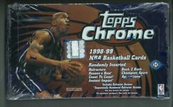 Details About 1998-99 Topps Chrome Basketball Box Factory Sealed