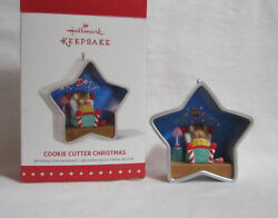 Hallmark Ornament Cookie Cutter Christmas 2015 Star Mouse In Bed