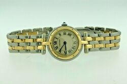 Round Panthere 1057920 Stainless Steel Case Cream Dial 24 Mm