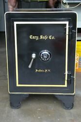 Antique Cary Safe Co. Buffalo Ny Rolling Floor Safe With Combo Restored