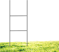 Yard Sign Stakes 24 X 9 H Stakes, Galvanized Metal For Corrugated Plastic Sign