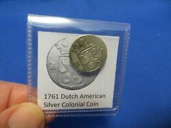 1761 Silver Early American Colonial Coin Before Us Minted Coins Free Shipping