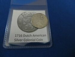 1716 Silver Early American Colonial Coin Before Us Minted Coins Free Shipping