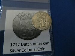 1717 Silver Early American Colonial Coin Before Us Minted Coins Free Shipping