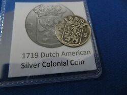 1719 Silver Early American Colonial Coin Before Us Minted Coins Free Shipping