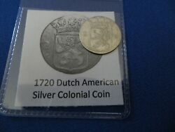 1720 Silver Early American Colonial Coin Before Us Minted Coins Free Shipping